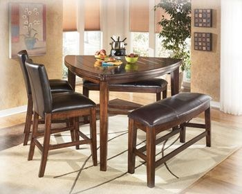larchmont triangle counter height table the classy home. Black Bedroom Furniture Sets. Home Design Ideas
