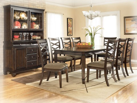 Hayley Contemporary Dark Brown Wood Dining Sets D480