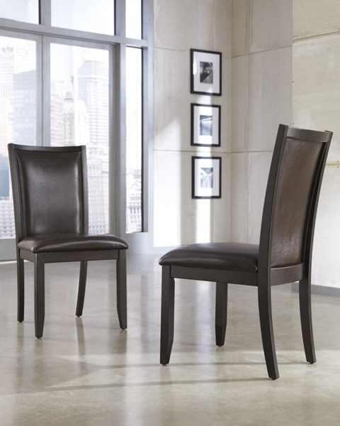 Trishelle Brown Dining Uph 2 Side Chairs D550-02