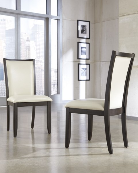 Trishelle Cream Dining Uph 2 Side Chairs D550-03