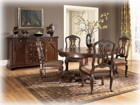 North Shore Dining Room Pedestal Table Top D553-50T