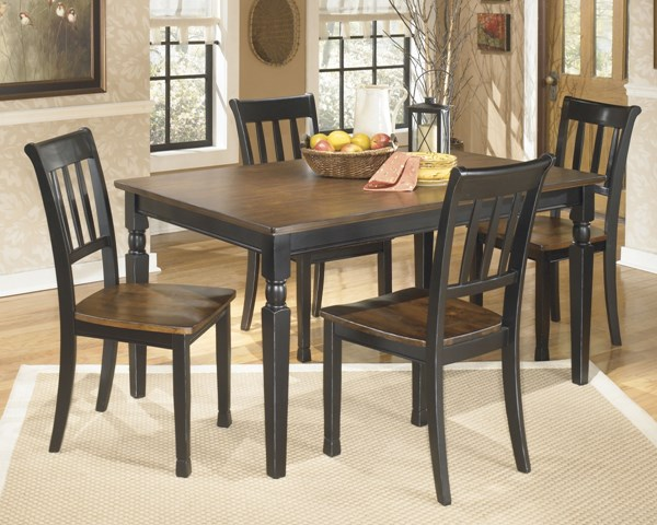Owingsville Casual Black Brown Wood 5pc Dining Room Set D580-S3