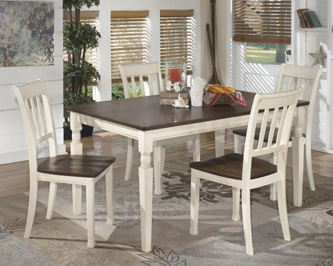 Whitesburg Casual Wood 6pc Dining Room Set W/Rectangular Table D583-S3
