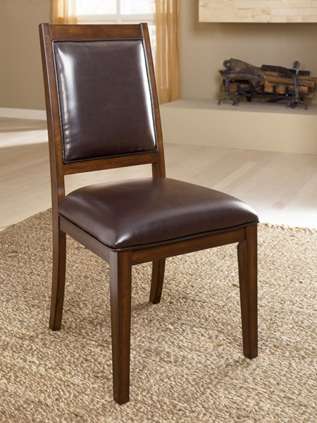 2 Holloway Cottage Mahogany Wood Dining Upholstery Side Chairs D696-01