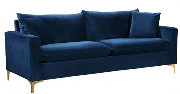 Design Edge Aramac  Navy Velvet Sofa DE-22780304