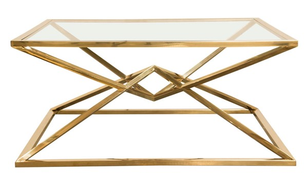 Diamond Sofa Aria Gold Stainless Steel Square Cocktail Tables DMND-ARIACT-CT-VAR