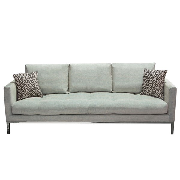 Diamond Sofa Chateau Royal Sapphire Grey Fabric Pillow Back Sofa DMND-CHATEAUSOSP