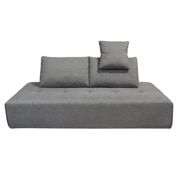 Diamond Sofa Cloud Space Grey Fabric Lounge Seating Platform DMND-CLOUDLGBGR