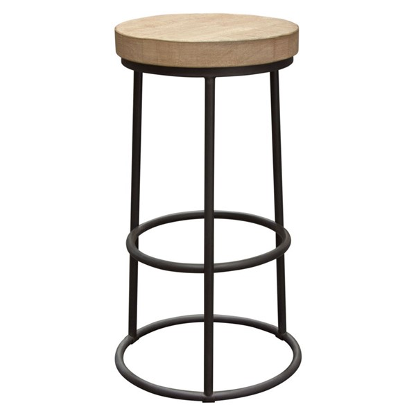 Diamond Sofa Cooper Solid Pine Top Round Backless Bar Height Stool DMND-COOPERSTPI