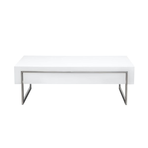 Diamond Sofa Cosmo White MDF Cocktail Table DMND-COSMOCTWH