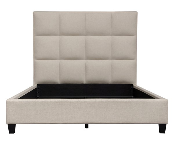Diamond Sofa Devon Sand Grid Tufted Queen Bed DMND-DEVONQUBEDSD