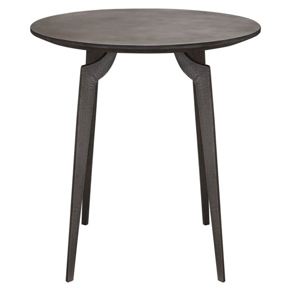 Diamond Sofa Eclipse Grey MDF Round End Table DMND-ECLIPSEETIR