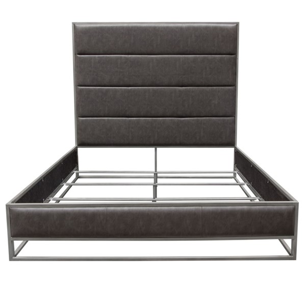 Diamond Sofa Empire Grey Leatherette Beds DMND-EMPIRE-BED-VAR