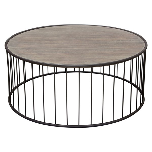 Diamond Sofa Gibson Grey Round Cocktail Table DMND-GIBSONCTGO