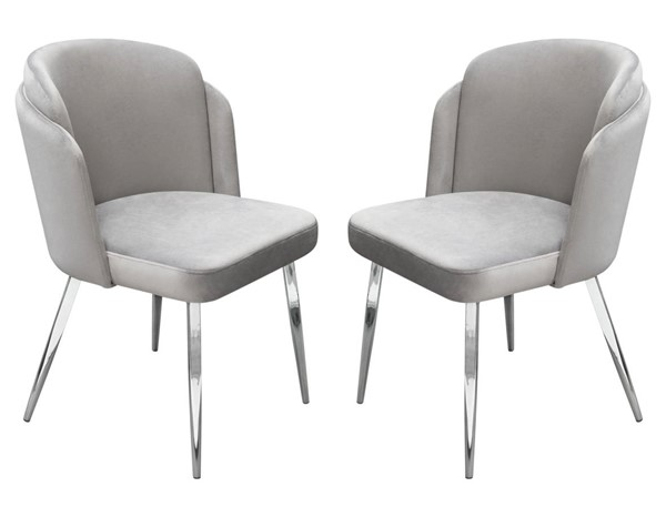 2 Diamond Sofa Grace Grey Dining Chairs DMND-GRACEDCGR2PK