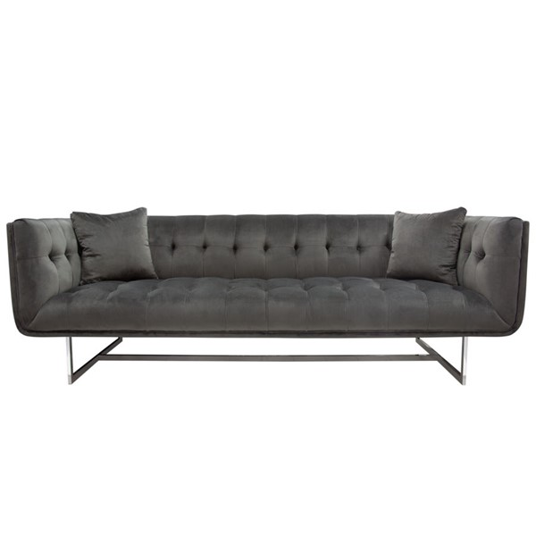 Diamond Sofa Hollywood Dusk Grey Fabric Tufted Sofa DMND-HOLLYWOODSODG