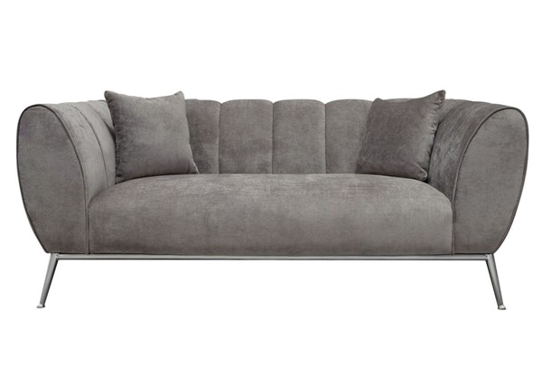 Diamond Sofa Jade Grey Fabric Loveseat DMND-JADELOGR