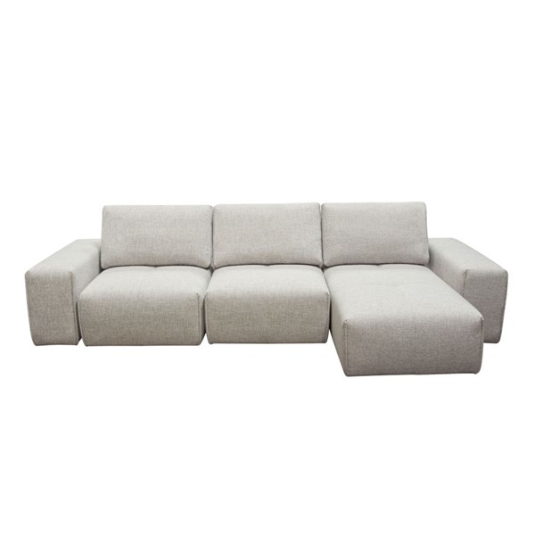 Diamond Sofa Jazz Barley Fabric Chaise Sectional with Adjustable Backrests DMND-JAZZ2AC1CA2ARLB