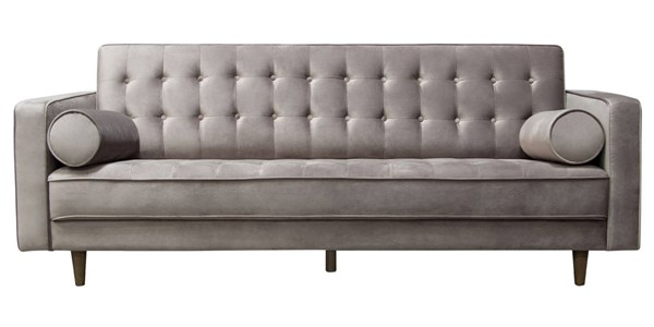 Diamond Sofa Juniper Champagne Grey Tufted Sofa with Pillows DMND-JUNIPERSOCG