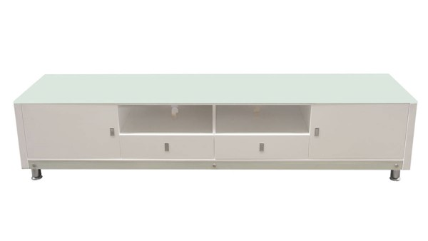 Diamond Sofa K99 White MDF 83 Inch Entertainment Cabinet DMND-K99TVWH