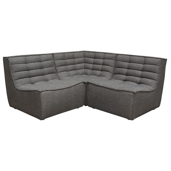 Diamond Sofa Marshall Grey 3pc Sectional DMND-MARSHALL3PCGR
