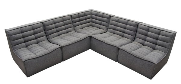 Diamond Sofa Marshall Grey 5pc Sectional DMND-MARSHALL5PCGR