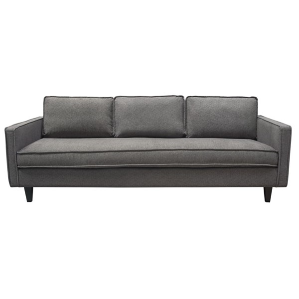 Diamond Sofa Maxim Grey Fabric Mid Century Sofa DMND-MAXIMSOGR