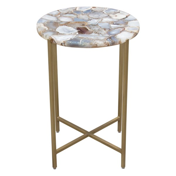 Diamond Sofa Mika Grey Round Accent Table DMND-MIKAATGR