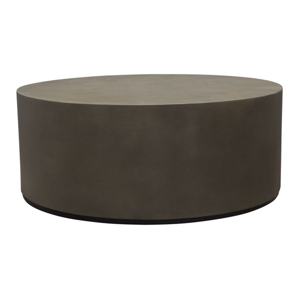 Diamond Sofa Montage Grey Round Cocktail Table DMND-MONTAGERCTCM