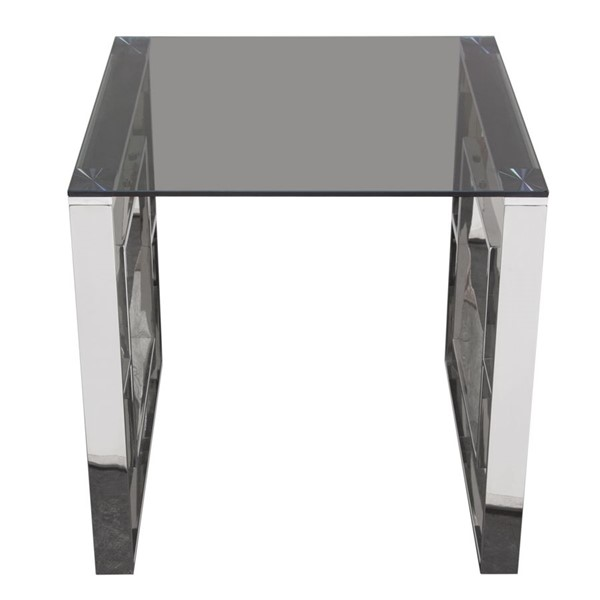 Diamond Sofa Muse Glass Top Square End Table DMND-MUSEETSS