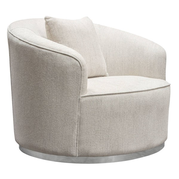 Diamond Sofa Raven Light Cream Fabric Chair DMND-RAVENCHCM