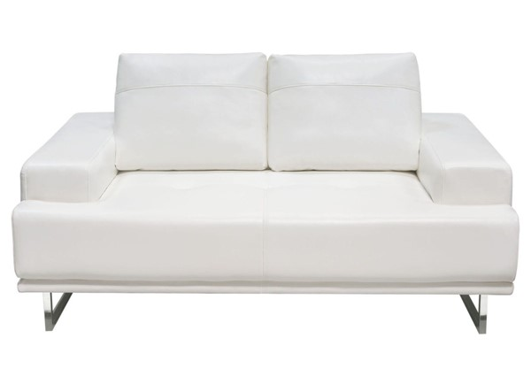 Diamond Sofa Russo White Air Leather Loveseat DMND-RUSSOLOWH
