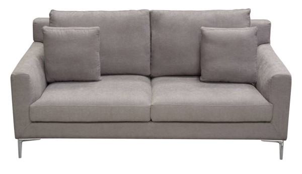 Diamond Sofa Seattle Grey Loose Back Loveseat DMND-SEATTLELOGR