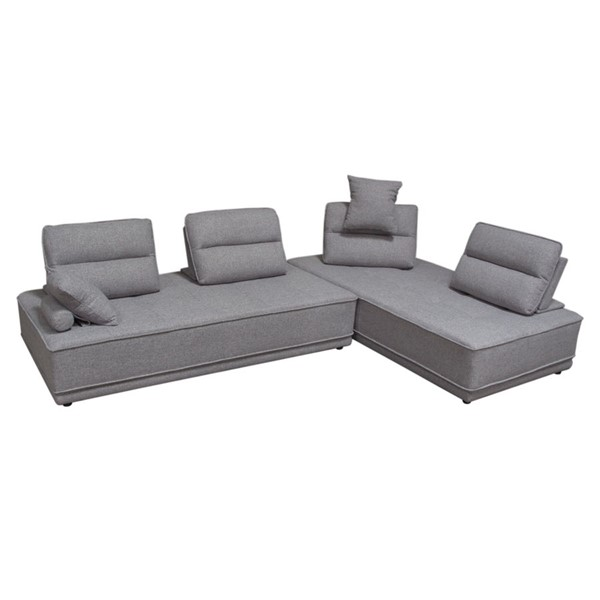 Diamond Sofa Slate Grey Polyester 2pc Lounge Seating Platforms DMND-SLATELGBGR2PC