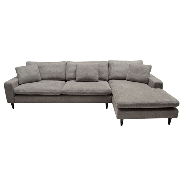 Diamond Sofa Wade Grey Fabric RF 2pc Sectional DMND-WADERF2PCSECTGR