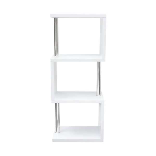 Diamond Sofa X Series White MDF Small Bookcase DMND-X3SHWH