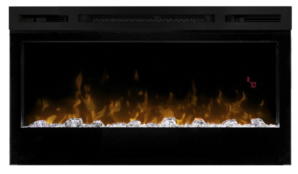 Dimplex Prism Black 34 Inch Electric Fireplace Wall Mounted with Acrylic Ember Bed DMP-BLF3451