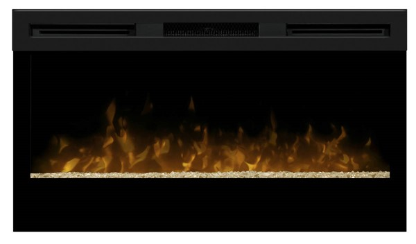 Dimplex Wickson Black 34 Inch Electric Fireplace Wall Mounted with Acrylic Ember Bed DMP-BLF34