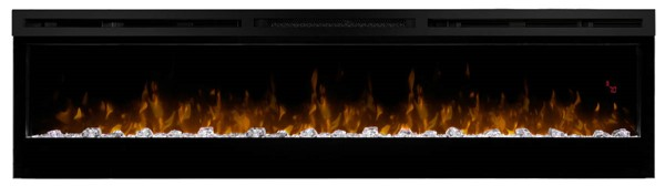 Dimplex Prism Black 74 Inch Electric Fireplace Wall Mounted with Acrylic Ember Bed DMP-BLF7451