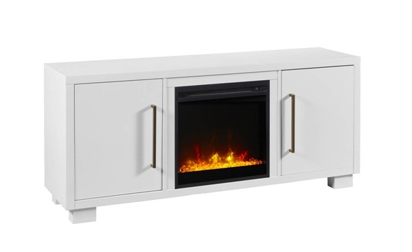 Dimplex C3 Shelby White TV Stand Electric Fireplace DMP-C3P18C9-2030W
