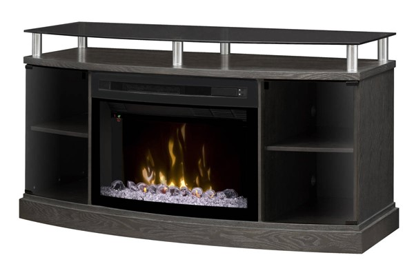 Dimplex Windham Silver Charcoal Media Console Electric Fireplace with Acrylic Ember Bed DMP-GDS25CG-1015SC