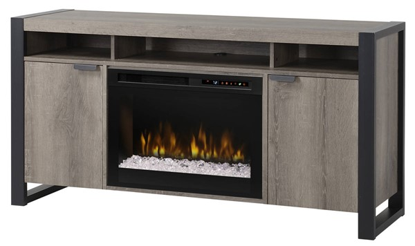 Dimplex Pierre Steeltown Wood Media Console Electric Fireplace with Acrylic Ember Bed DMP-GDS25G8-1571ST
