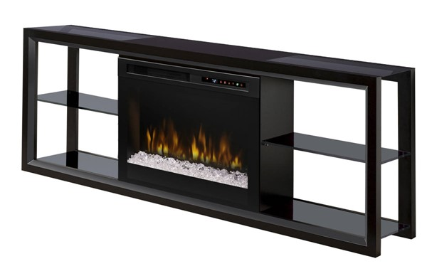 Dimplex novara wood media console electric fireplace with - Going to bed with embers in fireplace ...