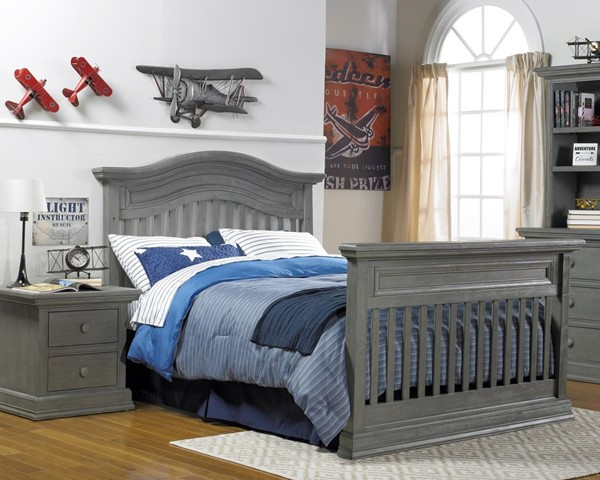 Dolce Babi Marco Nantucket Grey 2pc Bedroom Set with Full Bed DOLBI-17150-KB-S5