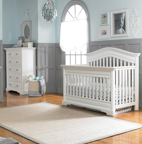 Dolce Babi Venezia 2pc Kids Bedroom Set with convertible Crib and 5 Drawers Chests DOLBI-173662-2PC-CRDRW-VAR