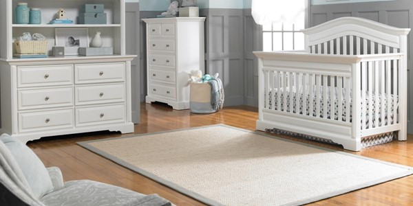 Dolce Babi Venezia 2pc Kids Bedroom Set with Convertible Crib and Double Dressers DOLBI-173661-2PC-CRDR-VAR