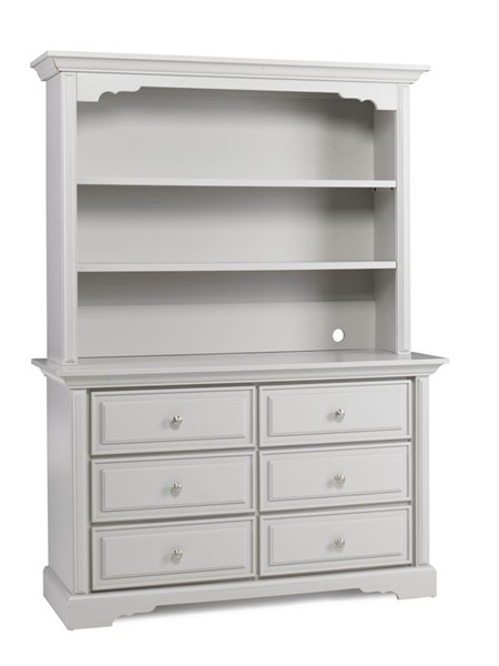 Dolce Babi Venezia Misty Grey Dresser with Hutch DOLBI-1736-KBR-S4
