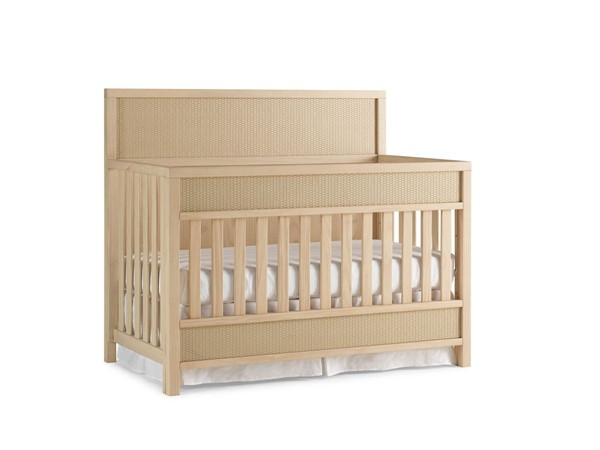 Ellen DeGeneres Nursery Gentilly Blonde Convertible Crib With Guard Rail ED-186532-186501