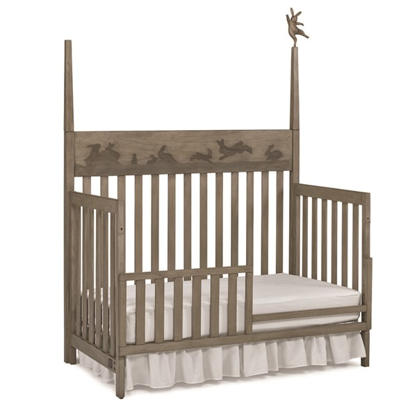Ellen DeGeneres Nursery Forest Animals Natural Grey Convertible Crib With Guard Rail ED-151501-55-151532-55