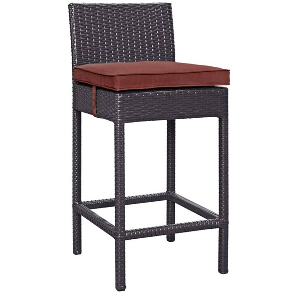 Modway Furniture Convene Currant Outdoor Patio Bar Stool EEI-1006-EXP-CUR